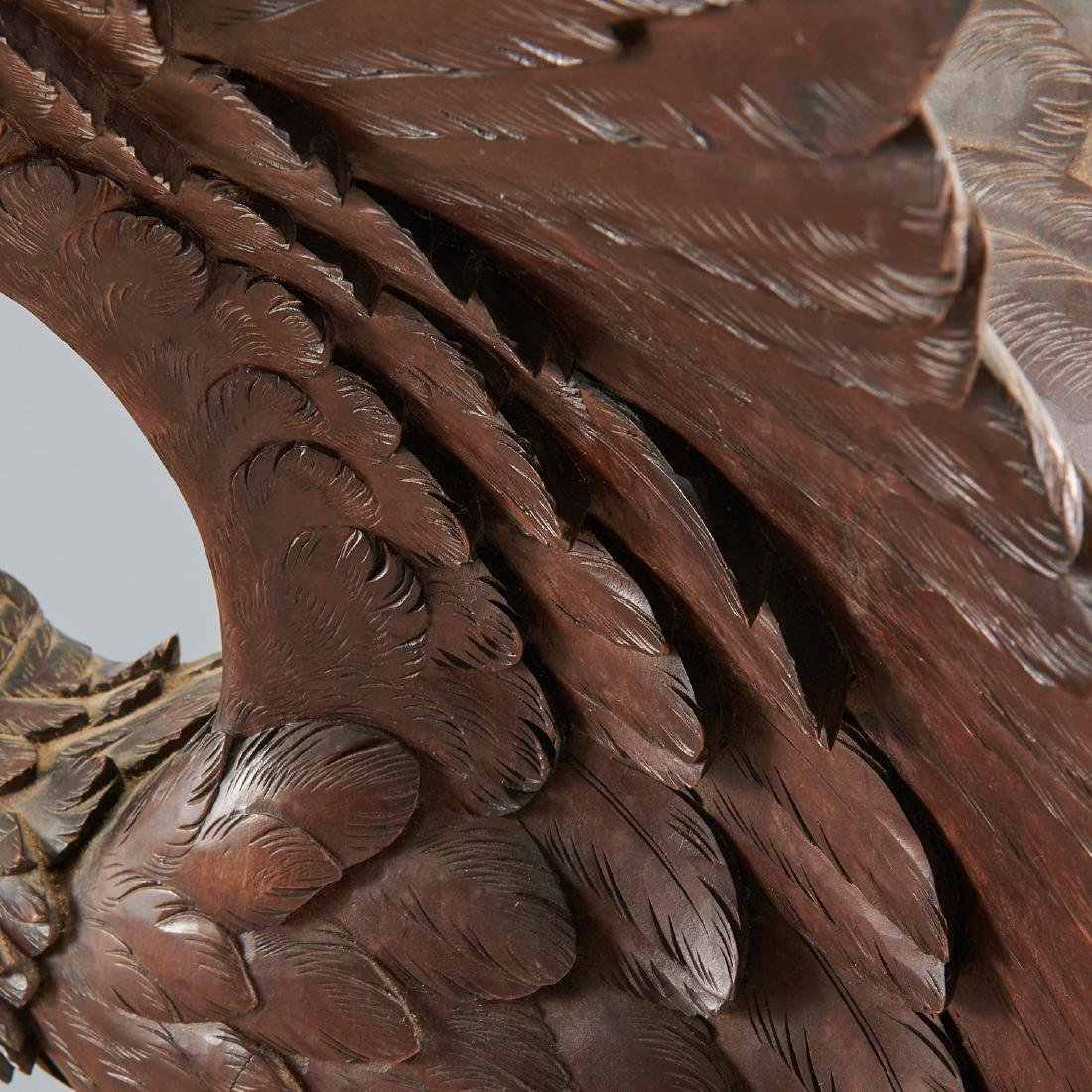 Near life-size carved Black Forest eagle sculpture - 5