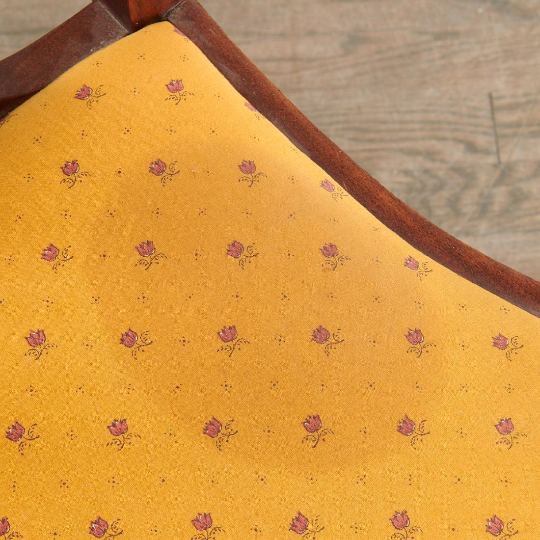 Pair Dutch marquetry side chairs - 8