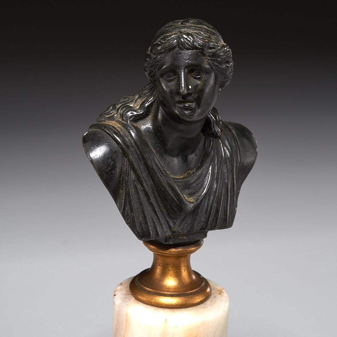 (2) Grand Tour bronze cabinet busts - 2