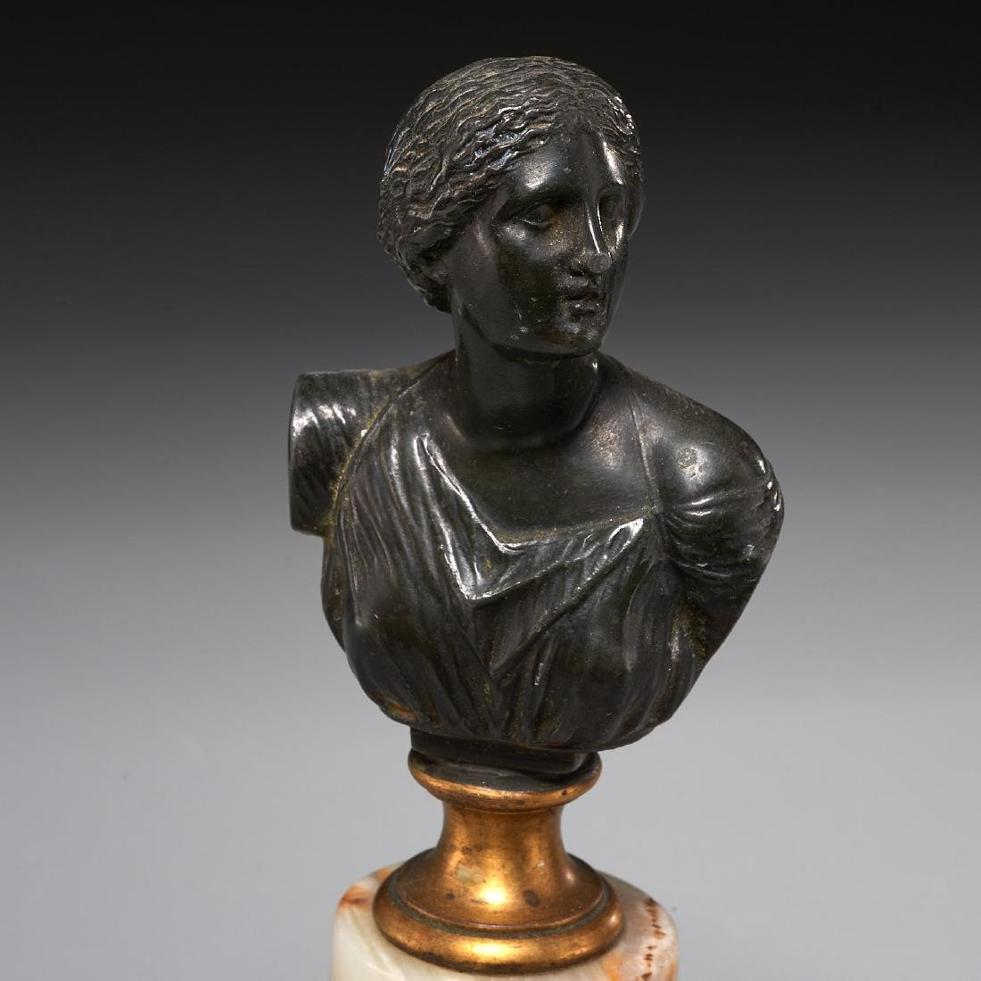 (2) Grand Tour bronze cabinet busts - 4