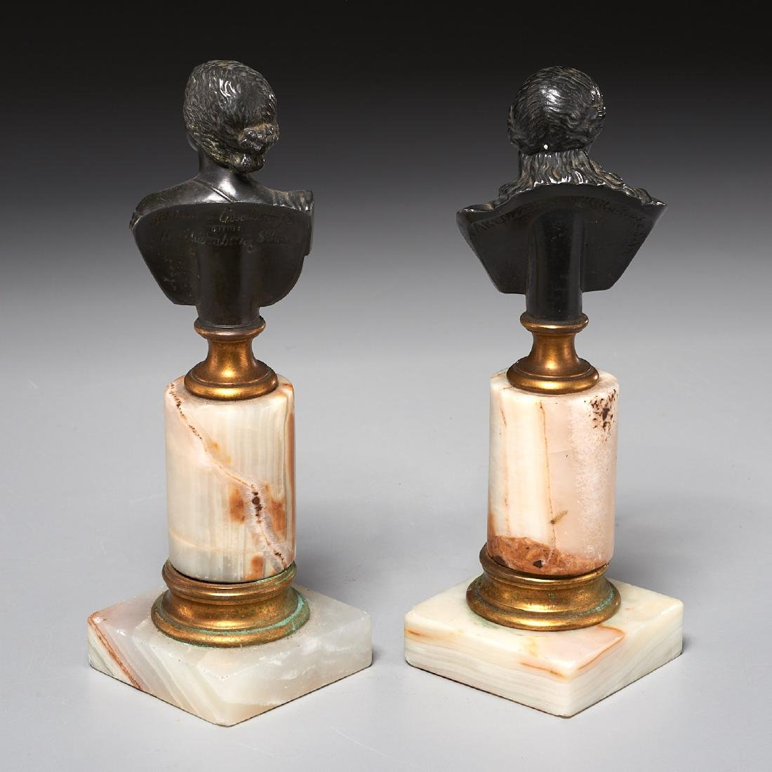 (2) Grand Tour bronze cabinet busts - 5