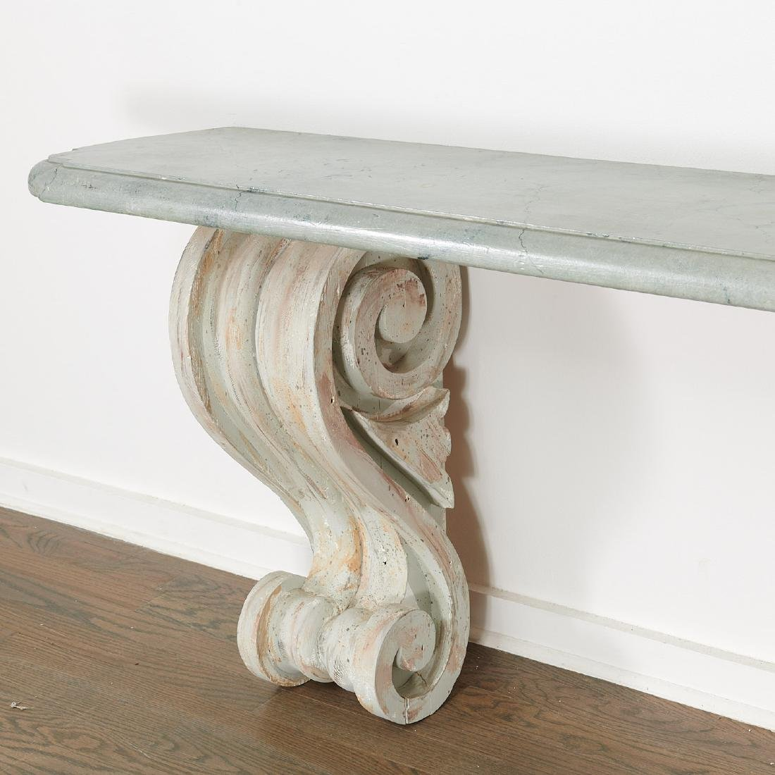 Pair Neo-Classical volute bracket consoles - 2
