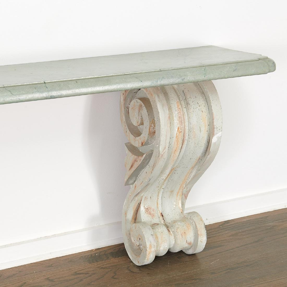 Pair Neo-Classical volute bracket consoles - 4