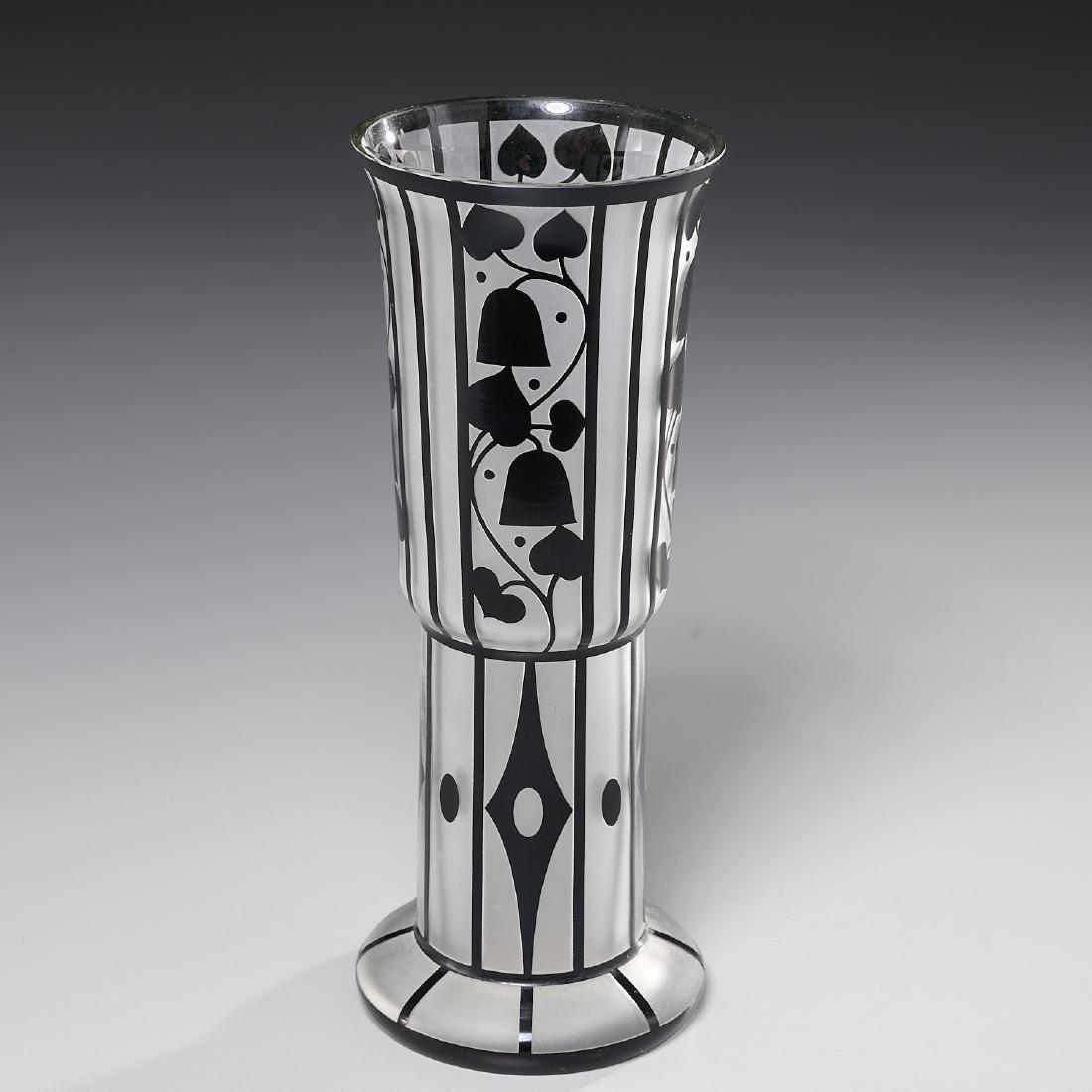 Hans Bolek cameo glass vase for Loetz