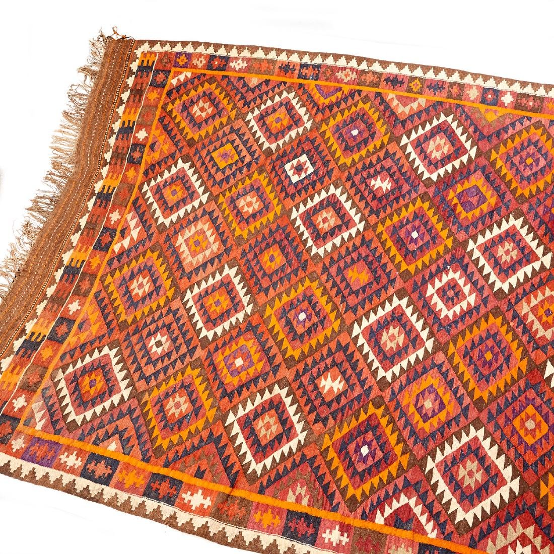Large Afghani kilim carpet - 2