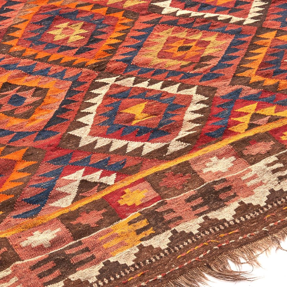 Large Afghani kilim carpet - 4