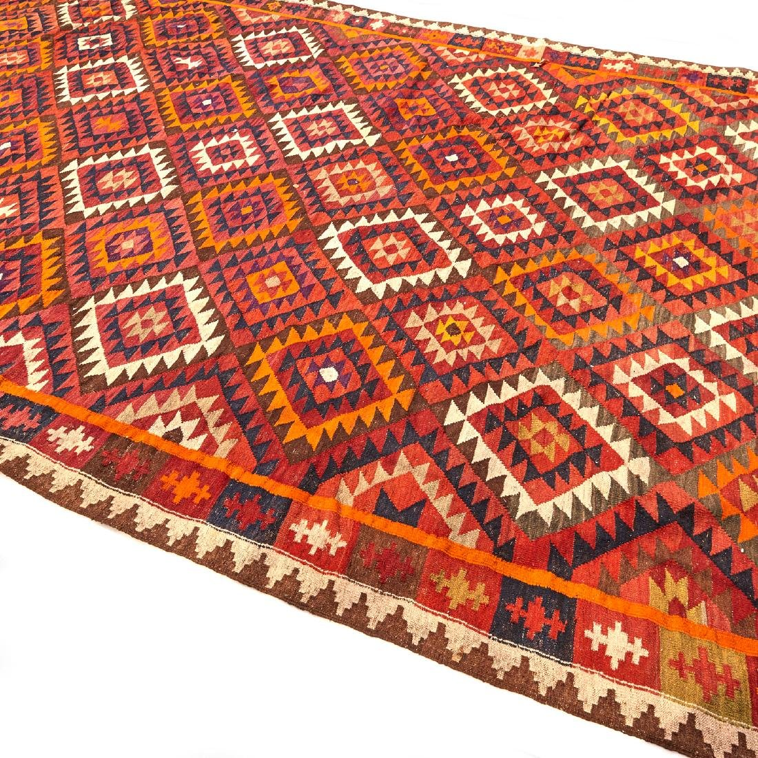 Large Afghani kilim carpet - 5