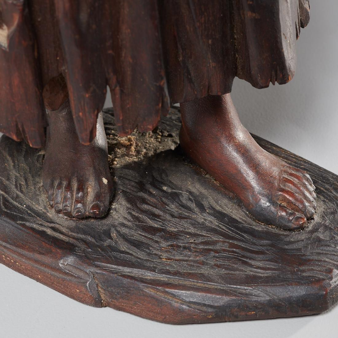 Pair Tyrolean carved wood figures - 6
