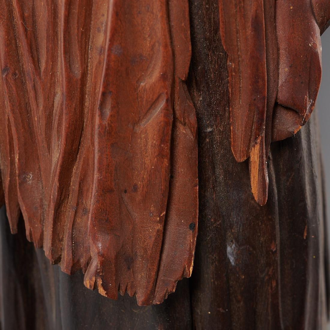 Pair Tyrolean carved wood figures - 7