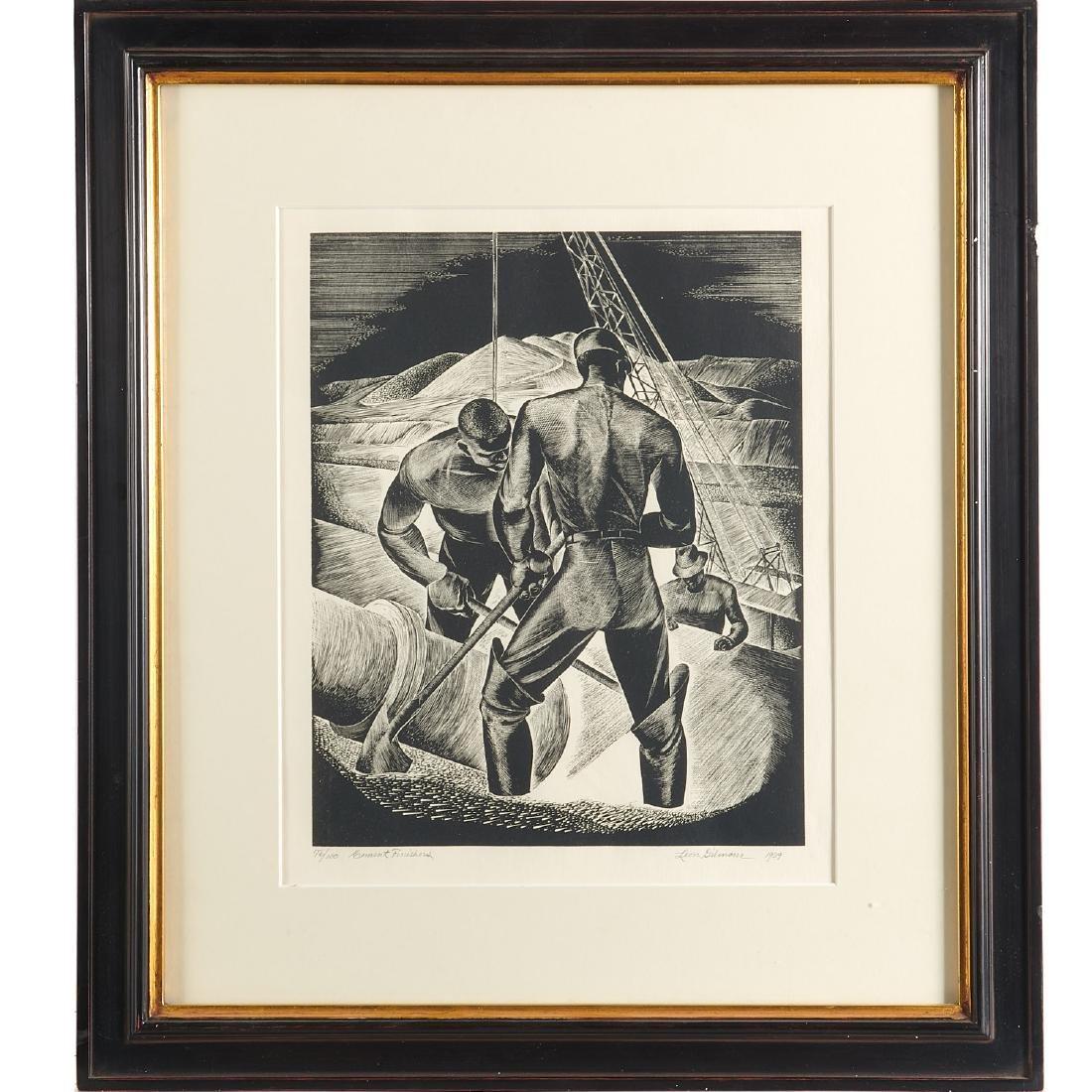 Leon Gilmour, engraving