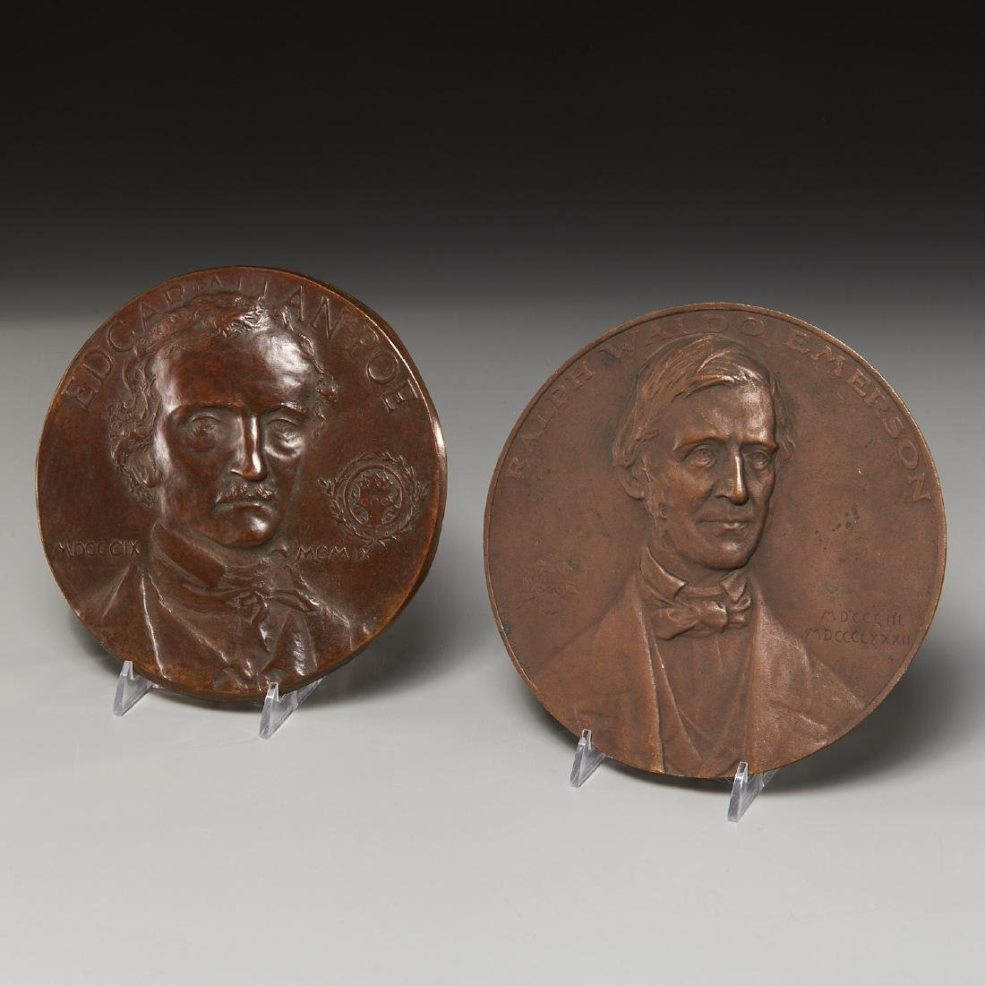 (2) Groliers Club commemorative medals