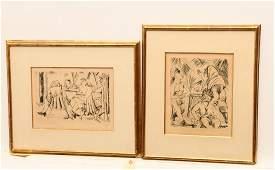 Paul Kleinschmidt 2 etchings