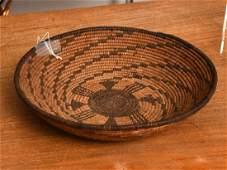 Native American Apache coiled basket
