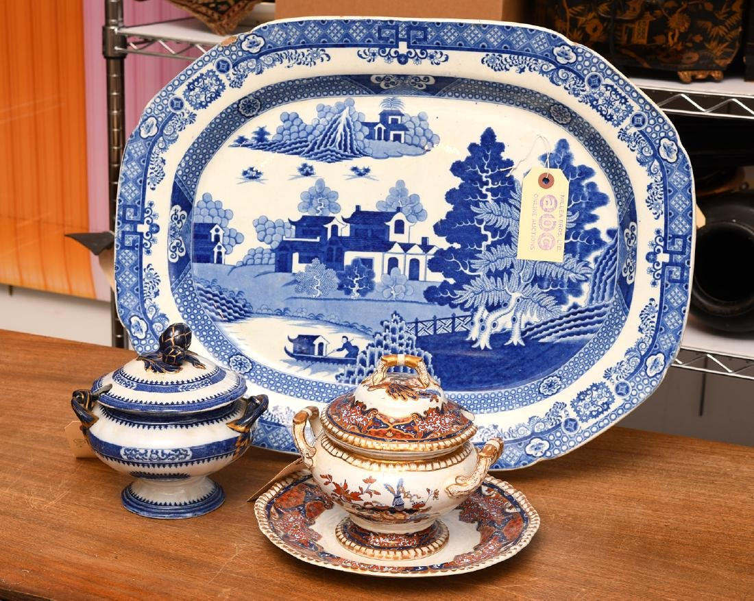 Group English ironstone tablewares