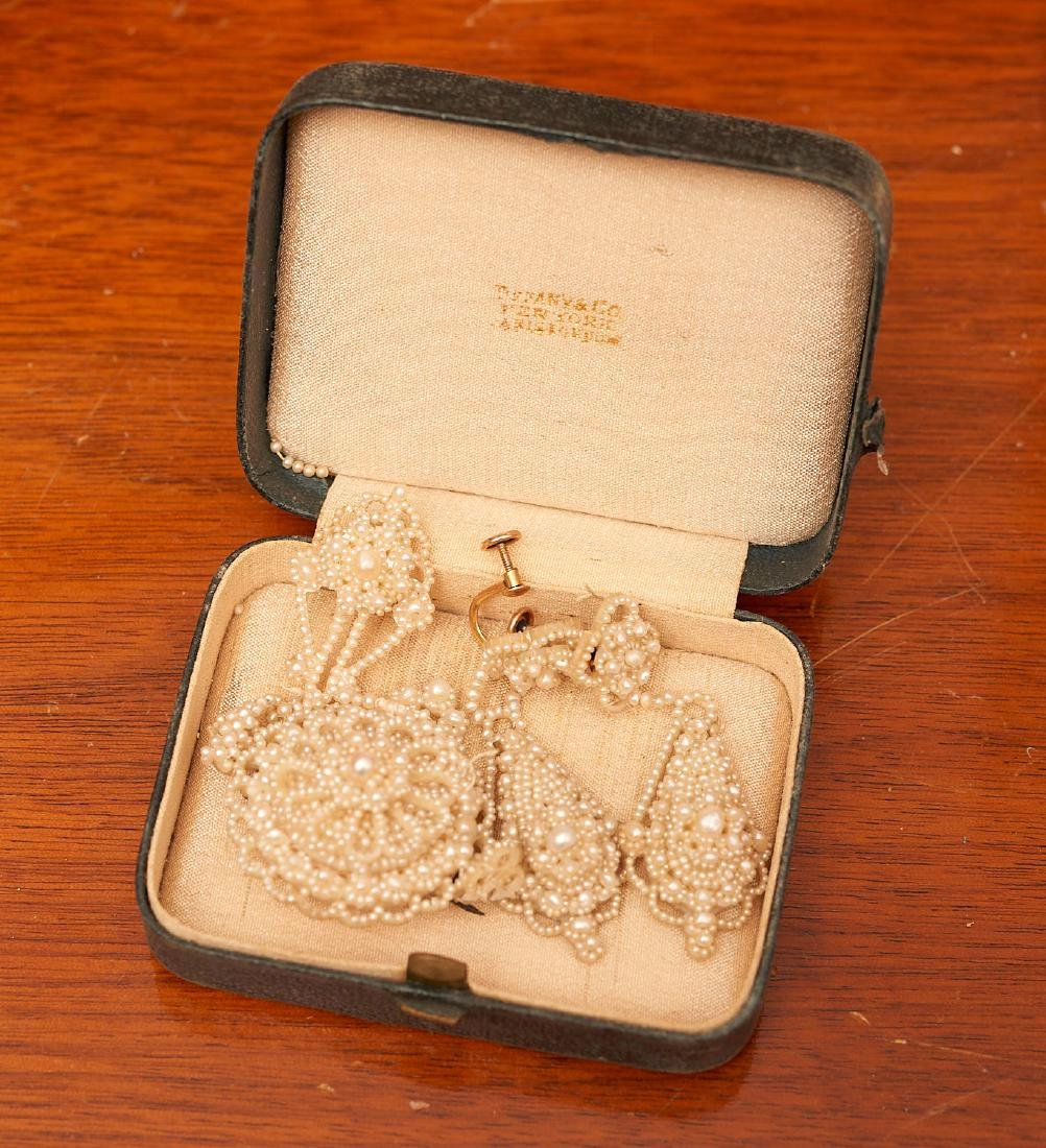 Victorian seed pearl mini parure - 3