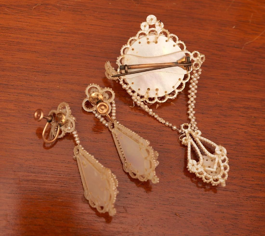 Victorian seed pearl mini parure - 4