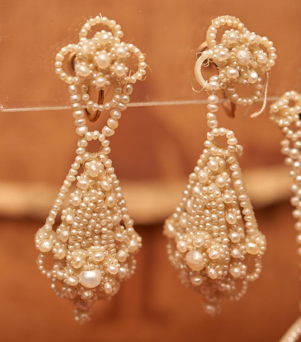 Victorian seed pearl mini parure - 5