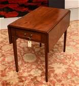 Hepplewhite mahogany pembroke table