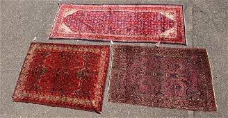 (3) hand-knotted Persian rugs