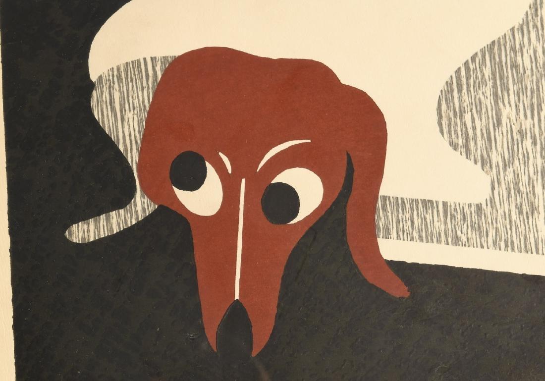 Kiyoshi Saito, Dachshund woodblock print - 4