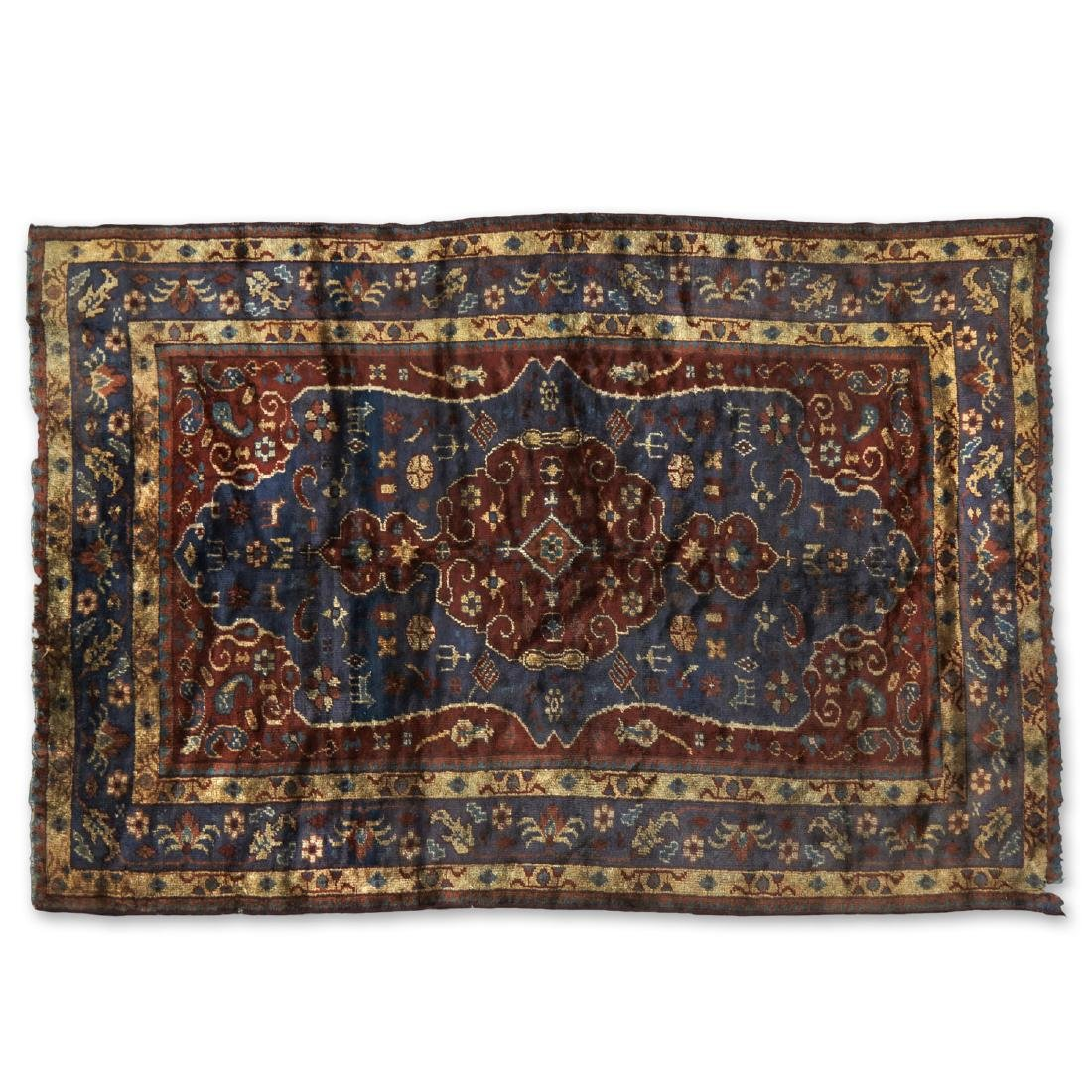 Antique Turkish silk carpet