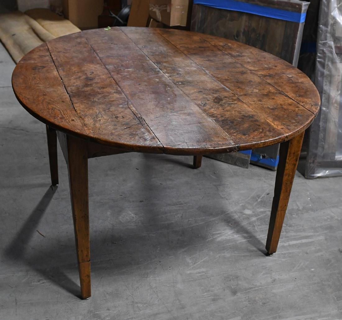 Antique pollard oak oval tavern table