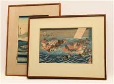 Japanese School 2 woodblock prints