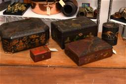 (5) Chinese lacquer boxes