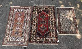 3 handknotted area rugs