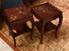 "Pair John Boone ""Laque de Chine"" side tables"