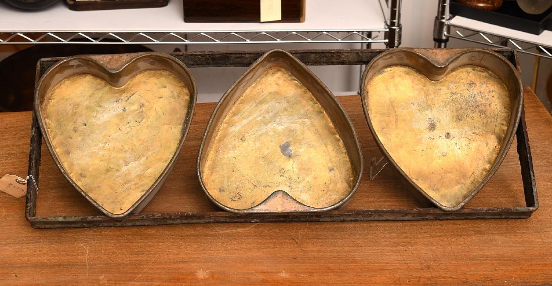 Primitive triple heart cake mold