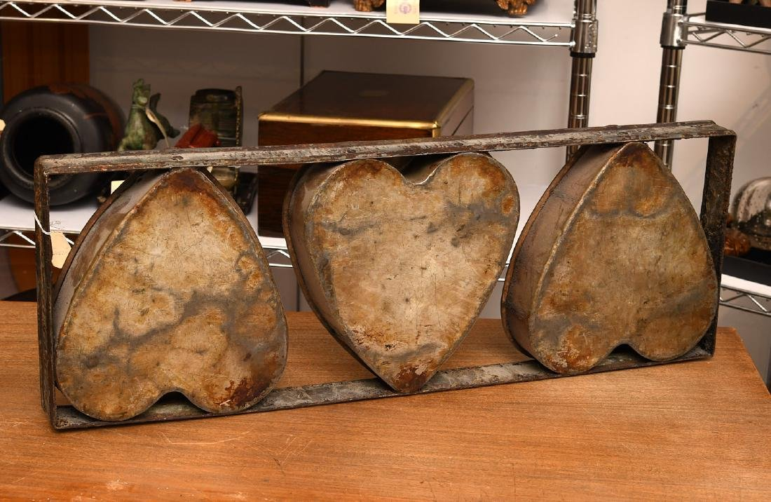 Primitive triple heart cake mold - 5