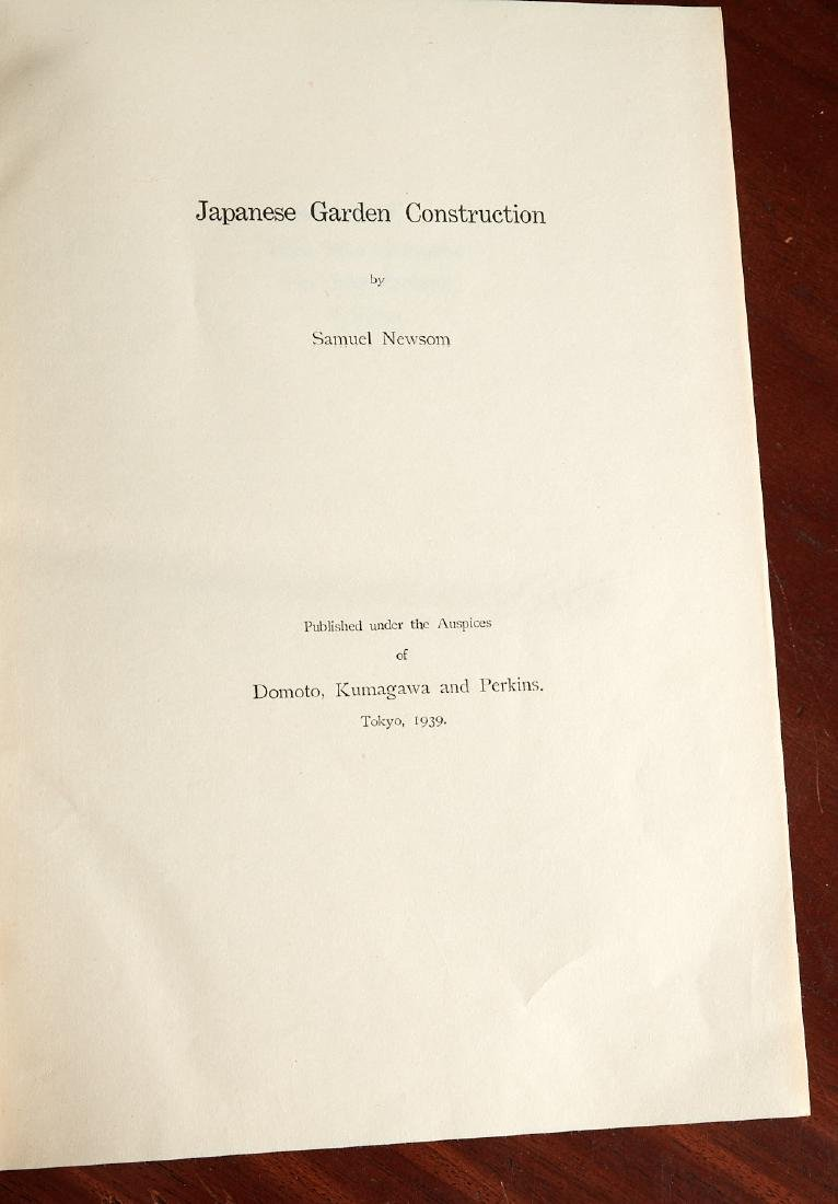BOOKS: Newsom 1939 Japanese Garden Construction - 2
