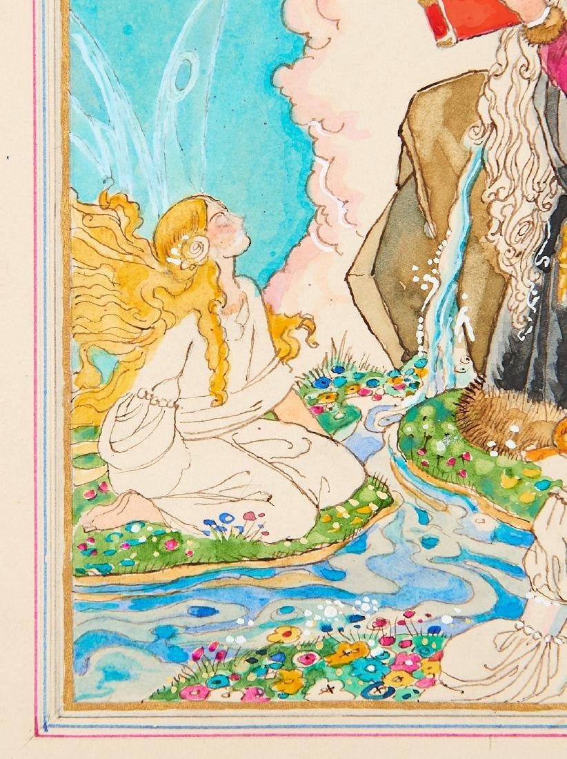 Felix Lorioux watercolor illustration Merlin - 3