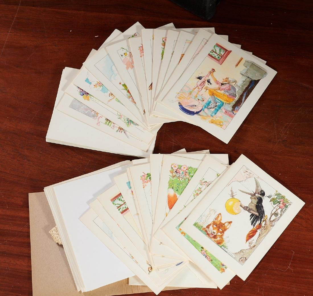 BOOKS: (8) Felix Lorioux + (2) sets notecards - 10