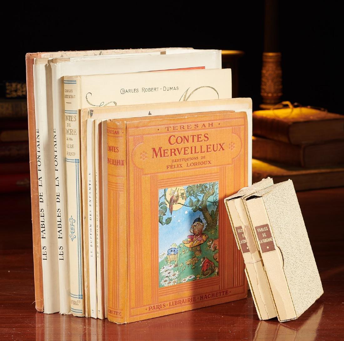 BOOKS: (8) Felix Lorioux + (2) sets notecards