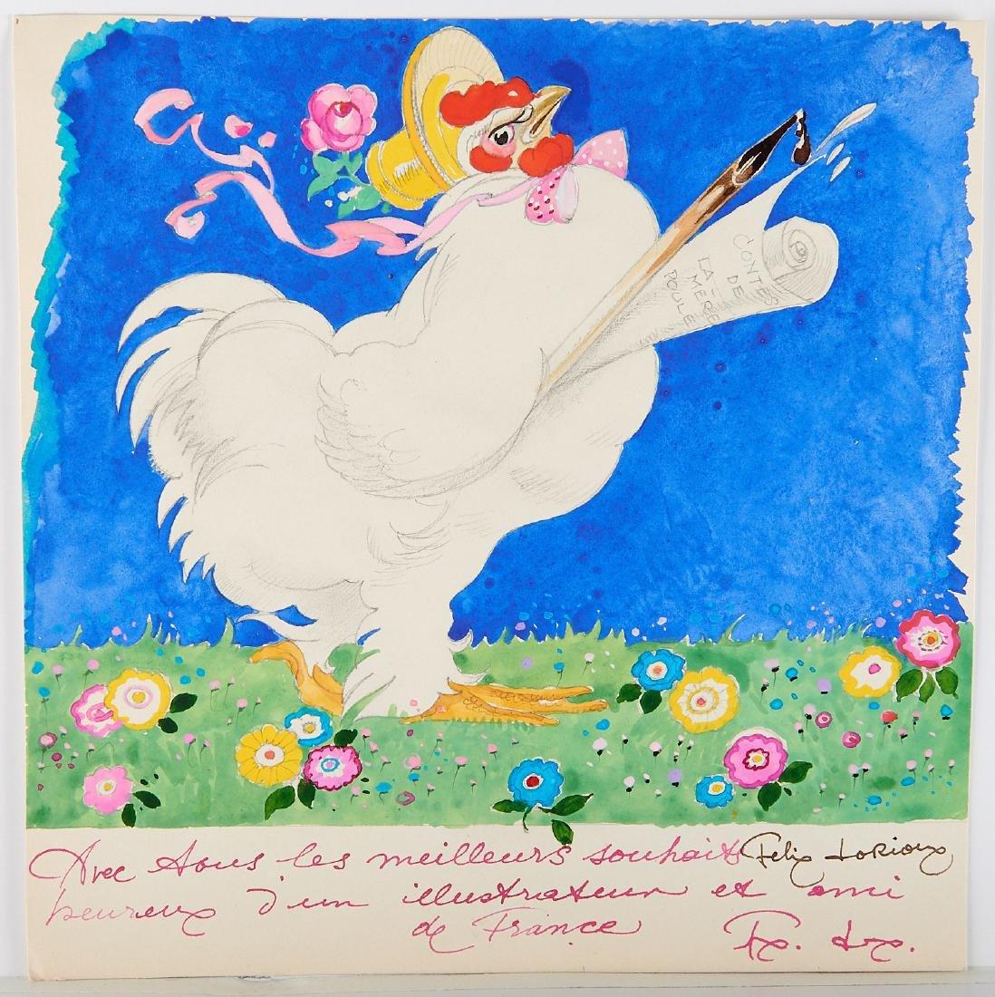 (2) Felix Lorioux orig. watercolor illustrations - 2