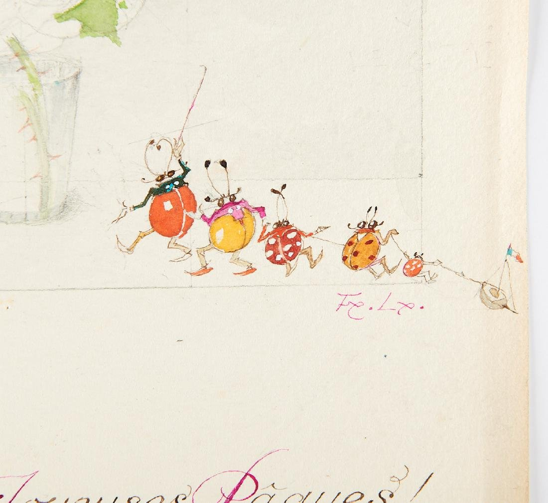 (2) Felix Lorioux orig. watercolor illustrations - 6
