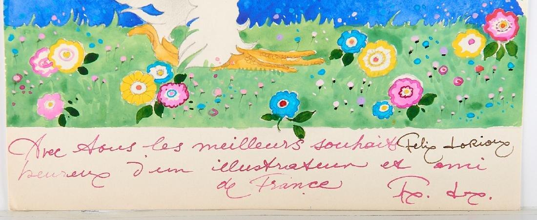 (2) Felix Lorioux orig. watercolor illustrations - 7