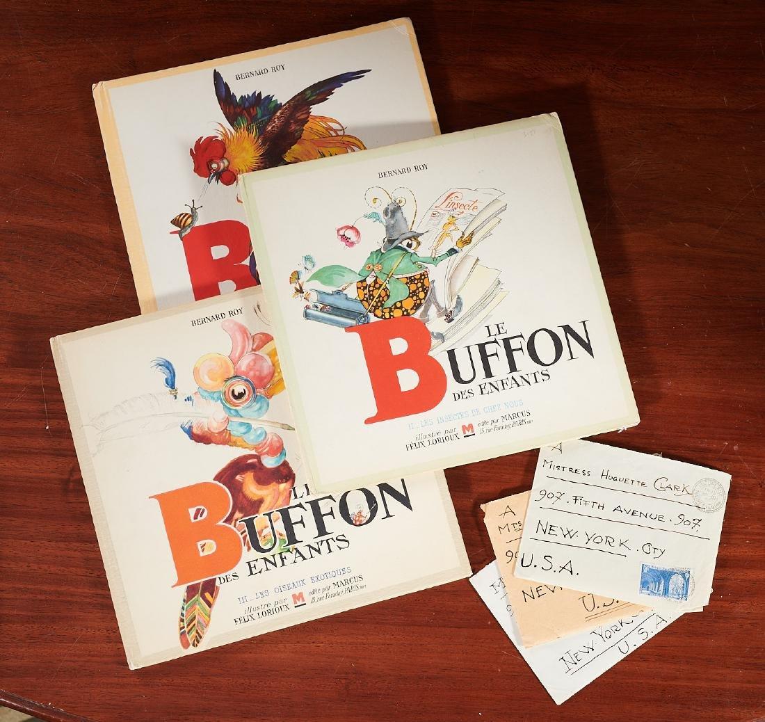 BOOKS: (3) Felix Lorioux + (3) letters SIGNED
