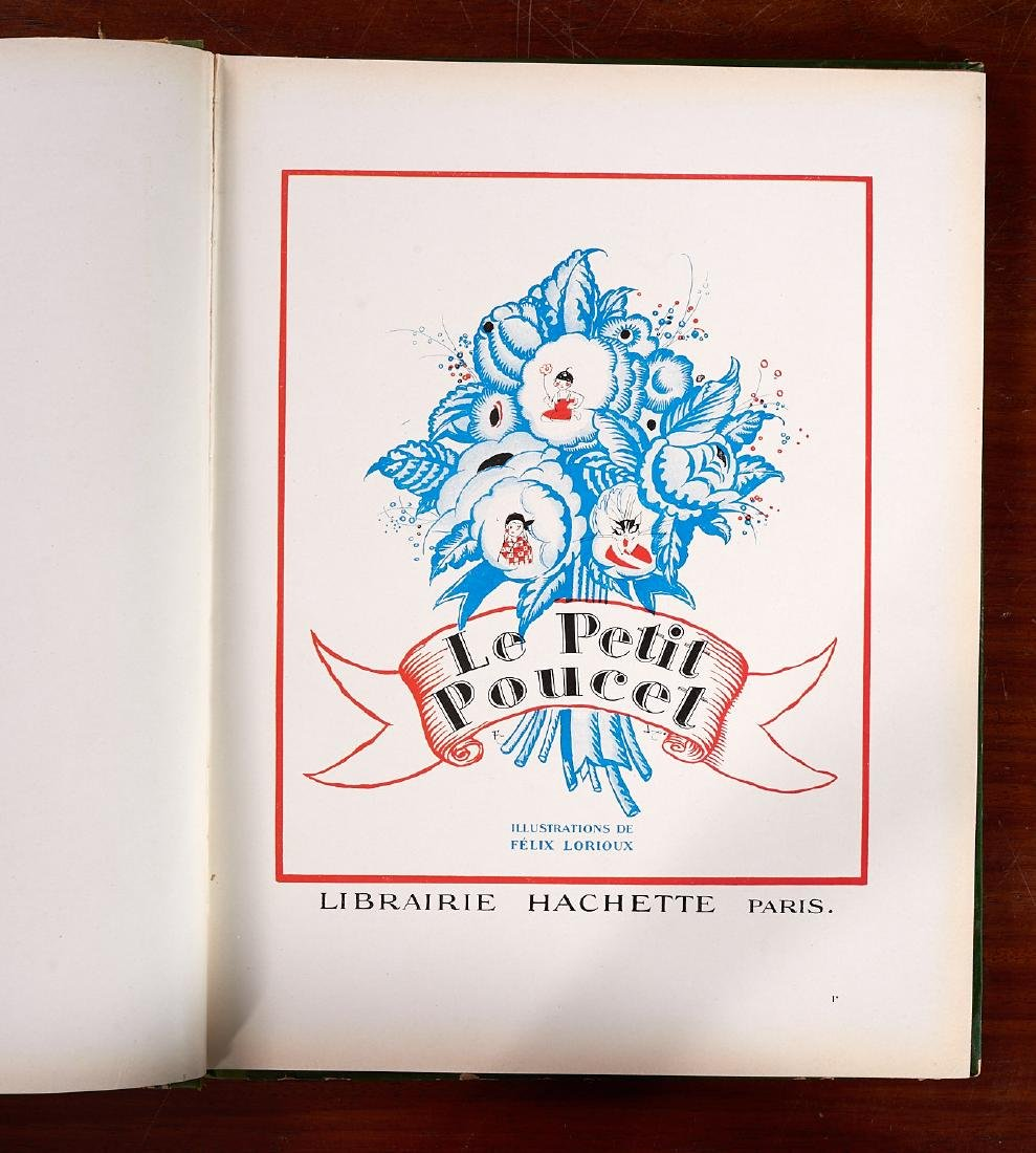 BOOKS: (5) Incl Petit Poucet 1928 Felix Lorioux - 7