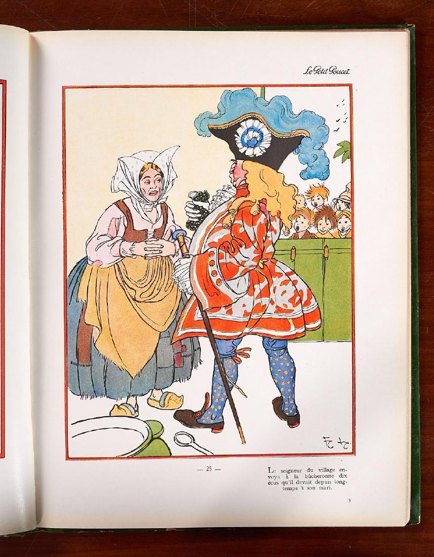 BOOKS: (5) Incl Petit Poucet 1928 Felix Lorioux - 9