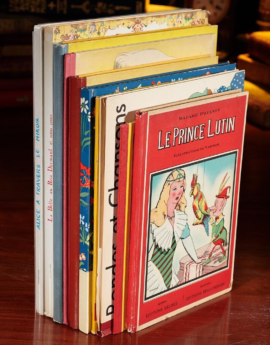 BOOKS: (10) Vintage French illustrated children's