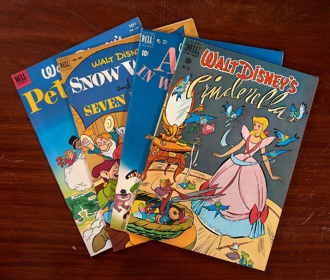 BOOKS: (5) Disney Puppet Paint Big Golden 1949-51 - 4