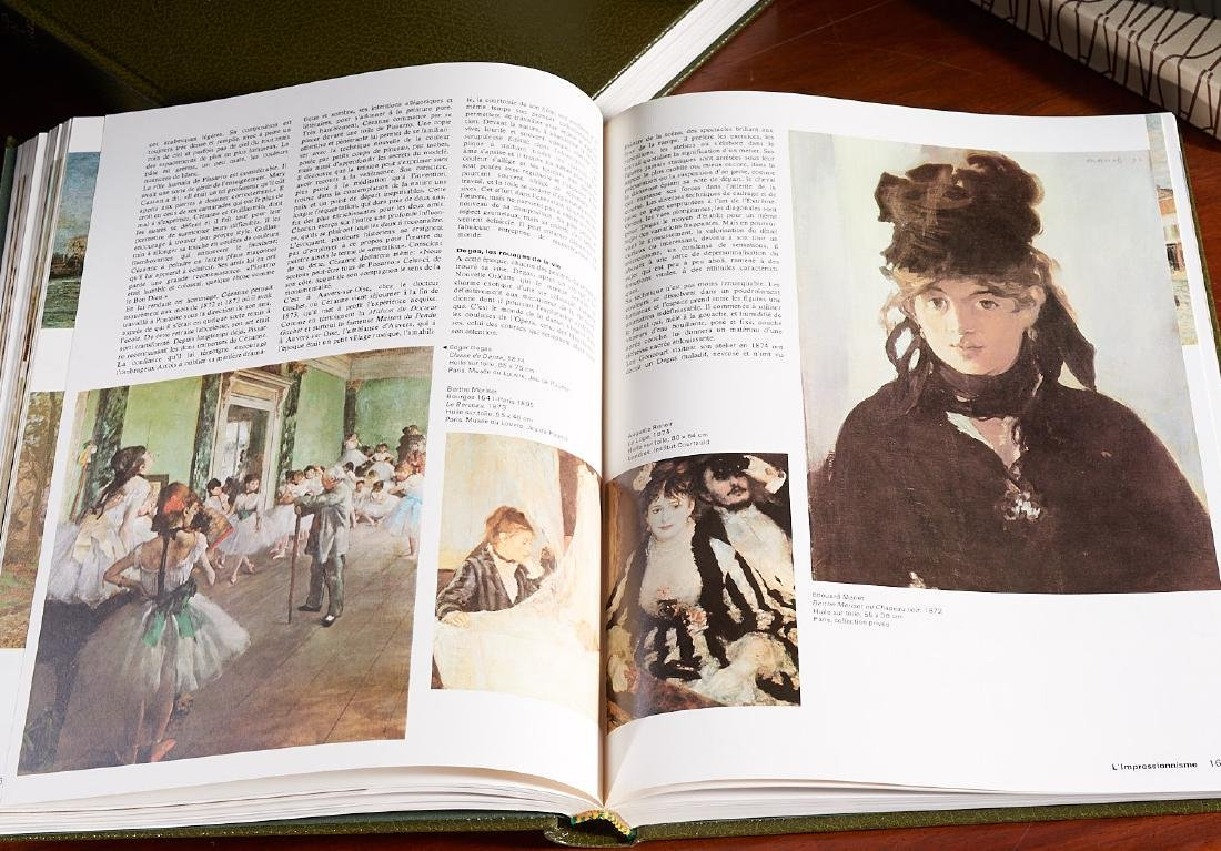 BOOKS: (4) French coffee-table art books - 8