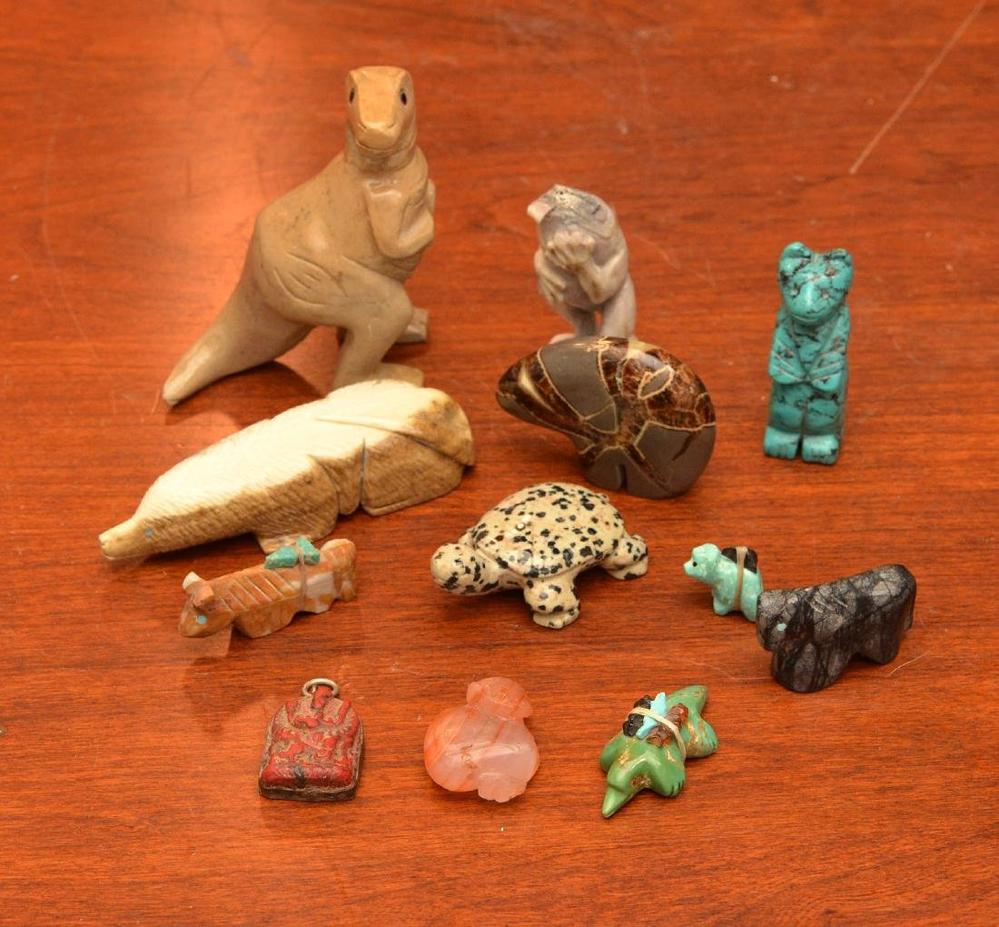 Zuni fetishes and other miniature animals