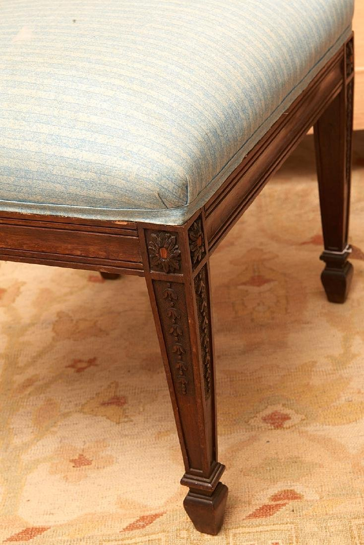(2) antique English upholstered footstools - 3