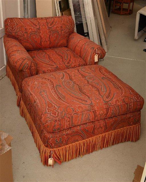 Admirable Paisley Upholstered Club Chair And Ottoman Oct 09 2018 Creativecarmelina Interior Chair Design Creativecarmelinacom