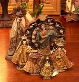 (6) vintage signed Santo figures