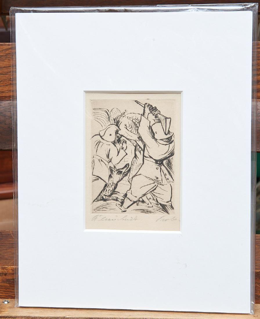 Paul Kleinschmidt, etching